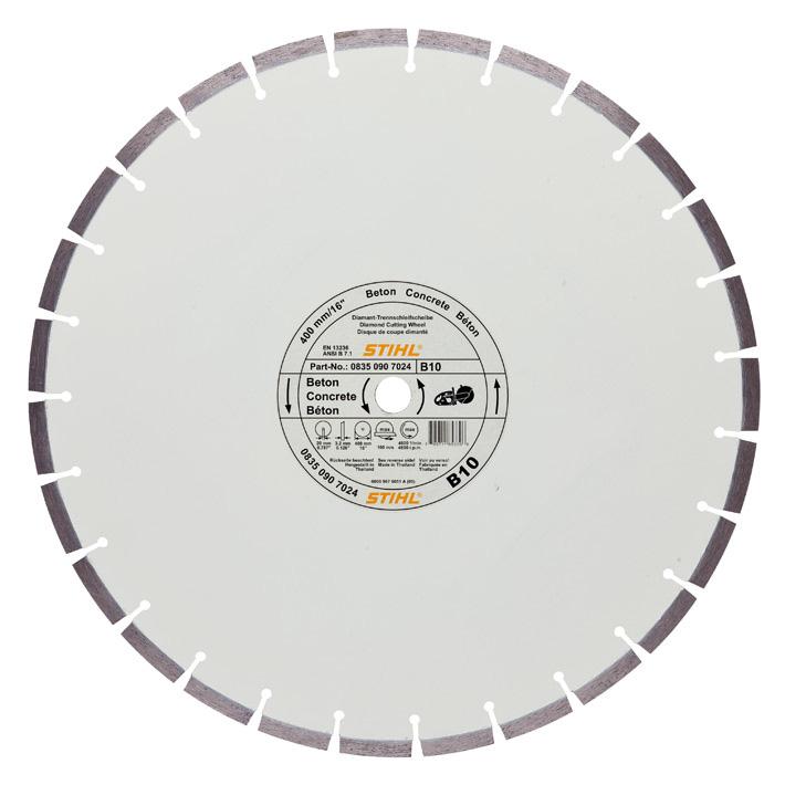 Алмазный отрезной круг, для бетона (B)