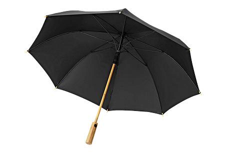 Walking stick umbrella with bamboo handle