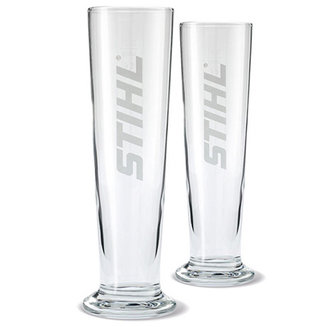 Set of two beer glasses