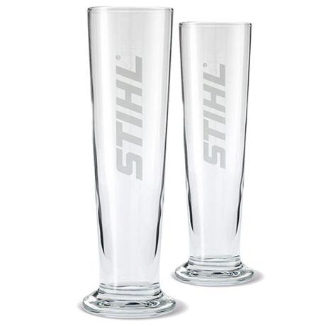 Set met 2 bierglazen