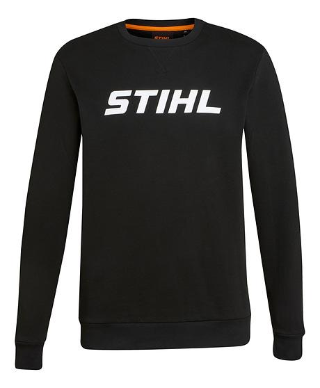 Sweat-shirt LOGO WHITE noir