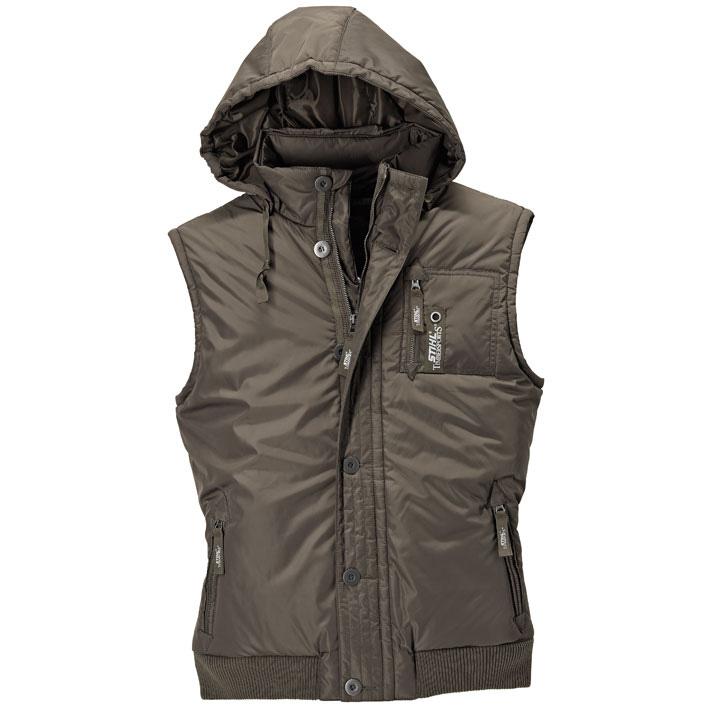 Hooded Down Vest - Dark Olive