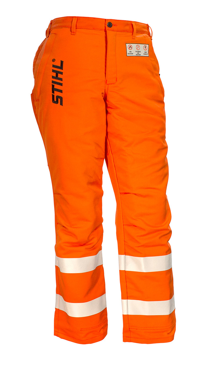 Government & Utility Protective Trousers - Hi Vis Orange