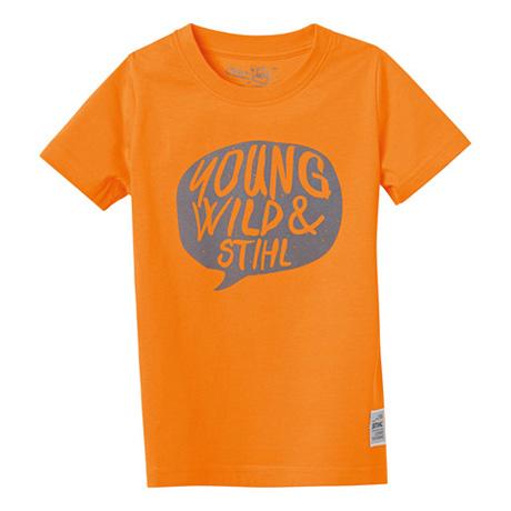 "T-Shirt ""YOUNG WILD"", orange"