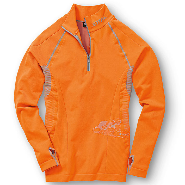 Long-sleeve functional shirt - Orange