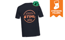 T-shirt Circle Logo - Black / Orange