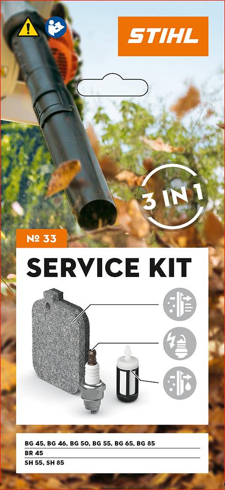 Zestaw serwisowy nr 33 do BG 45/46/50/55/65/85, BR 45, SH 55/85