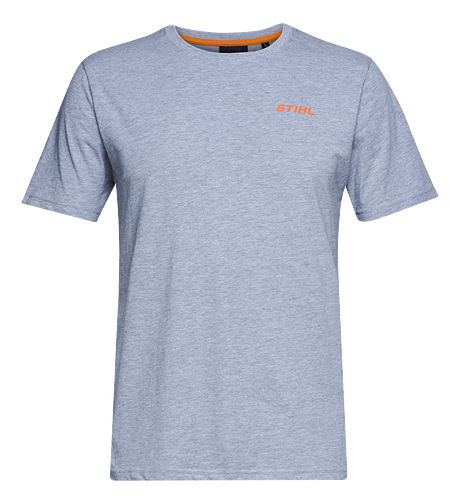 T-shirt with circular logo, grey