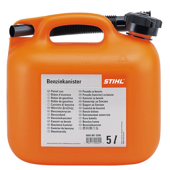 Benzindunk, orange, 5 l