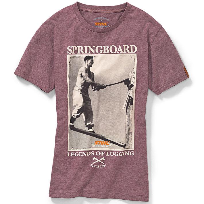 T-Shirt Retro TIMBERSPORTS® - Wine Red