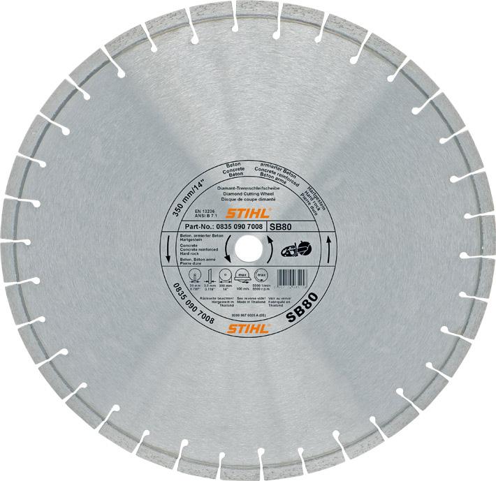Алмазный отрезной круг, для твёрдого камня (SB)