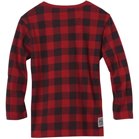 T-shirt manches longues rouge et noir