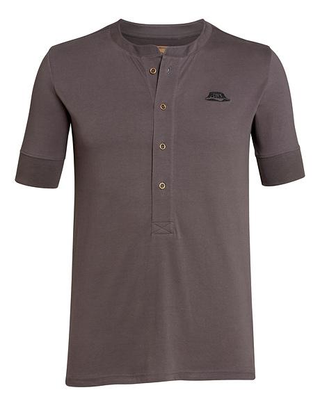 T-Shirt HENLEY, grey