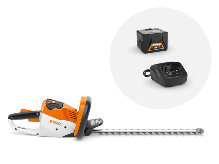 HSA 56 Cordless Hedge Trimmer with 1x AK 10 battery and AL 101 charger