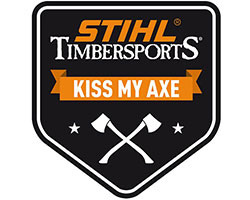 "Kleine sticker ""KISS MY AXE"""
