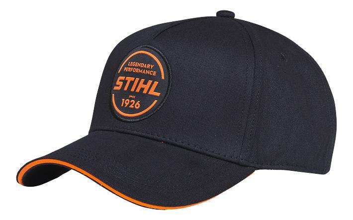 Baseball Cap Circle Logo - Black