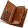 Damen-Geldbörse, Farbe cognac