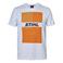 T-Shirt λευκό με πορτοκαλί στάμπα