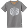 "T-Shirt ""YOUNG WILD"", grigio scuro"