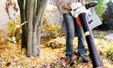 Oczyszczanie terenu za pomocą odkurzacza ogrodowego