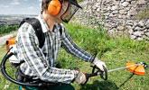 斜面の草刈り・刈払い作業