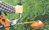 密植した草の刈払い