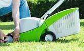 Koszenie trawników o powierzchni  do 300 m² kosiarką elektryczną