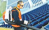 Limpieza profesional de grandes superficies mediante aspirado