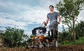 Travaux du sol exigeants, avec jeu de binage et de sarclage