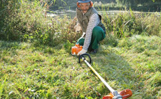 Using STIHL grass trimmers and brushcutters