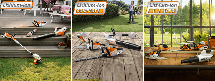 De accumachines van STIHL en VIKING
