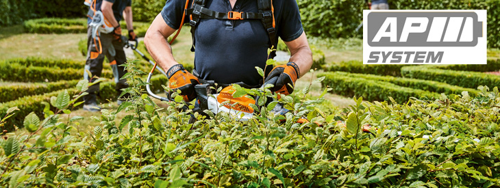 Cordless power tools for large gardens and professionals applications