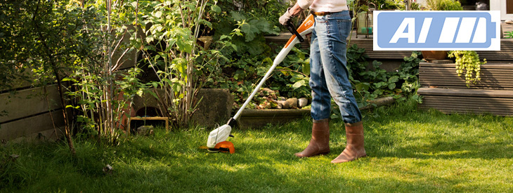 Cordless power tools for small gardens