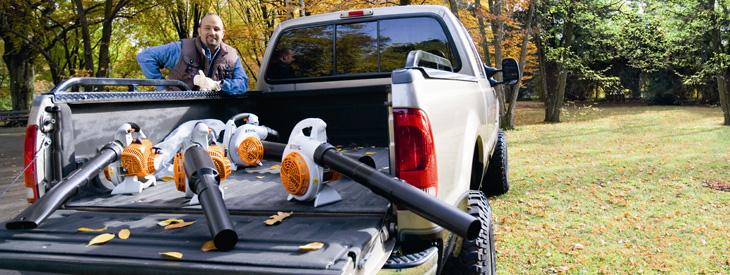 STIHL Blowers, vacuum shredders and sprayer