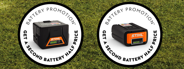 Promotional sets with the second battery half price