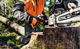 Gas chain saws for forestry