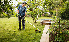 Petrol brushcutters for garden maintenance