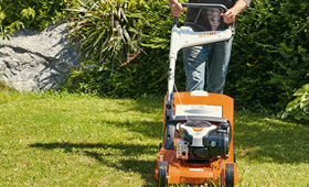 Petrol lawn mowers for small to medium sized lawns