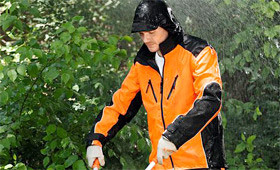 Weatherproof clothing