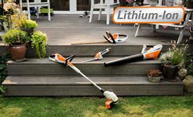 Productos a batería para pequeños jardines