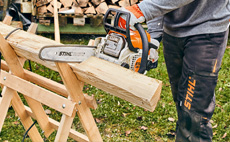 Petrol chainsaws for domestic users