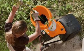 Elektrické drtiče zahradního odpadu