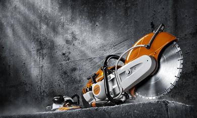 Tronzadoras, ahoyadoras y cortadora de hormigón