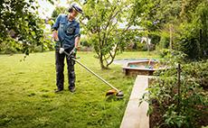 Petrol brushcutters for garden maintenance