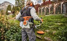 Roçadeiras para conservação e jardinagem profissional