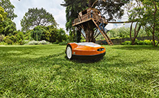 Robotic mowers for larger lawns and gardens