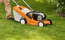 Robotic mowers, lawn mowers, ride-on mowers and lawn scarifiers