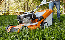 Petrol lawn mowers for domestic use