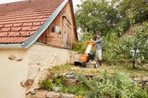 Bensindrevet kompostkvern