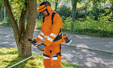 High-visibility protective clothing